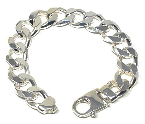 Panzerarmband 925 Silber 15 mm 24 cm Silber-Armband Damen Herren-Armband Herren-Schmuck ab Fabrik tendenze Italy D-G15-24v