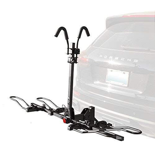 BV 2-Bike Bicycle Hitch Mount Rack Carrier for Car Truck SUV - Tray Style Smart Tilting Design...
