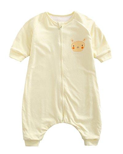 Baby Schlafsack Mit Füßen Und Langarm Schlafanzug Mit Reizendem Entwur Gelb 73
