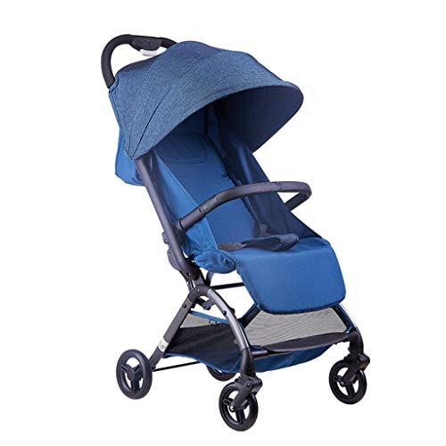 Kinderbuggy met ligfunctie, inklapbaar, klein, JMY-01325G kinderwagen, 2 in 1, vanaf geboorte tot 25 kg, compacte reis, buggy, uitbreidbare uv-luifel, ideaal voor vliegtuig