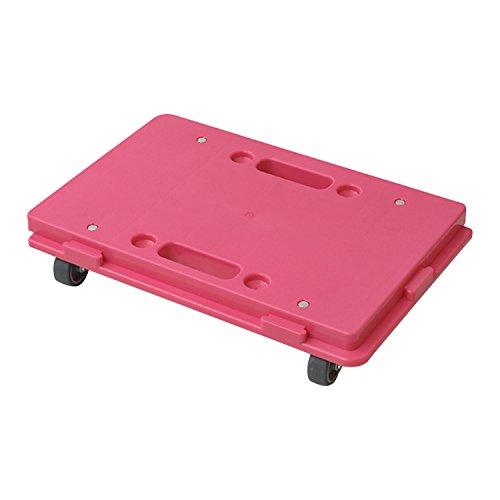 日東(NITTO) 家庭用平台車 ホームキャリー27.5×41cm【日本製】ローズピンク NTM-E50RP