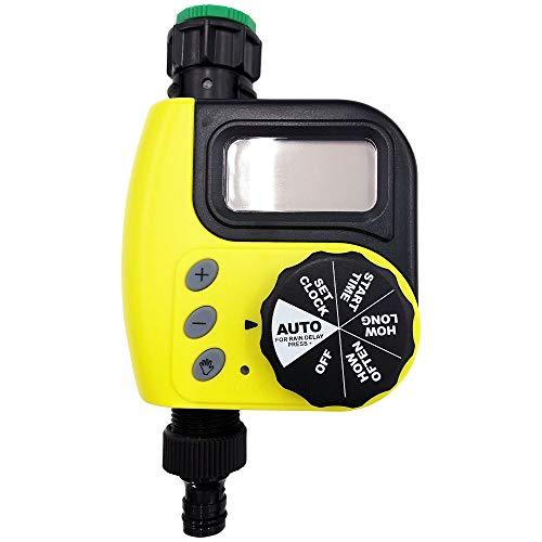 Wellz 自動散水タイマー 水やりタイマー スプリンクラータイマー ミストシャワー スプリンクラー 水やり 電池式