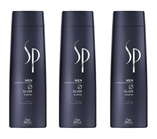 Wella 3 er Pack Wella SP Men Silver Shampoo 250 ml