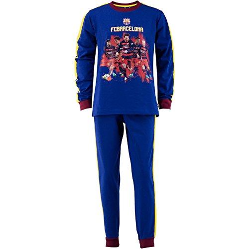 FC Barcelone - Conjunto de pijama oficial de camiseta y