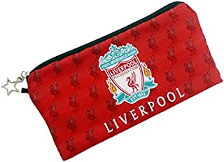 Liverpool Football Soccer Club Soccer Gift Stationery Pencil Case Pen Bag Pouch w/ Emboirdered Logo