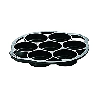 Lodge Cast Iron Mini Cake Pan. Pre-seasoned Cast Iron Cake Pan for Baking Biscuits, Desserts, and Cupcakes.