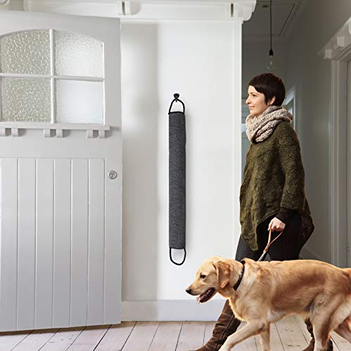 DECOREALM Heavy Duty Under Door Draft Stopper and Noise Blocker, Sound Proof Under Door Draft Guard for Doors and Windows, Provides Air Insulation and Weather Stripping for Doors (Black, 30 Inches)