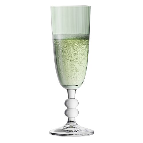 Bohemia cristal 093006163–Copas de cava, color verde decorada