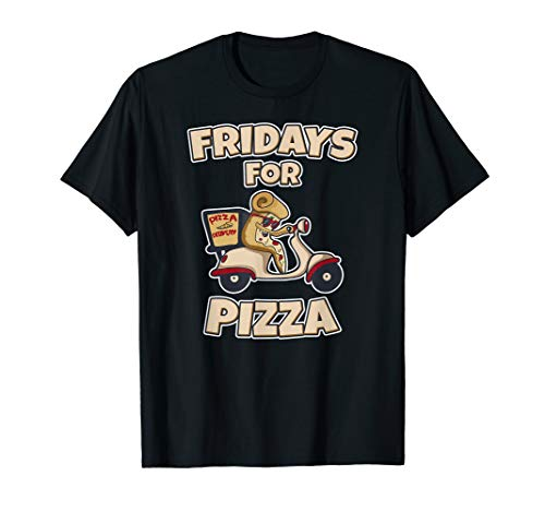 Fridays For Pizza Lieferdienst Scooter Motorroller T-Shirt