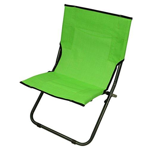 Fridani BCG XL Strandstoel, groen, klapstoel met draaggreep, luchtdoorlatende tuinstoel