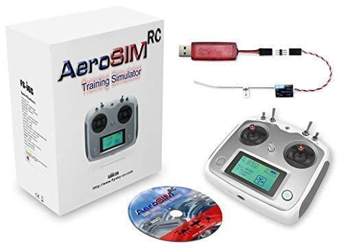 Simulador Drones AeroSIM RC | Simulador Entrenamiento Piloto de Dron | Avion Helicoptero Multirrotor RPA | Flight Training Drone Simulator | Emisora FS-i6S + Receptor FS-A8S