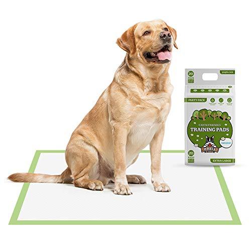 Pogi's Training Pads - Toallitas de Entrenamiento para Perros (20 Unidades) (60x90cm) — Extra Grandes, Súper Absorbentes, Almohadillas de Entrenamiento Ecológicas para Perros Medianos a Grandes