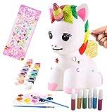 VHIMASA Figuras Pintar Hucha Pintar Kit Juegos Infantiles artesanía Creativa Caja de Dinero de Juguete Navidad cumpleaños niñas de 4 a 9 años