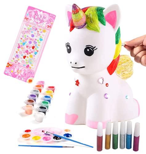 VHIMASA Figuras Pintar Hucha Pintar Kit Juegos Infantiles artesanía Creativa Caja de...