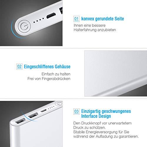 Poweradd Pilot 2GS Powerbank 10000mAh mit Alugehäuse und Automatische Erkennung Techologie für Ladung des Smartphones - 5
