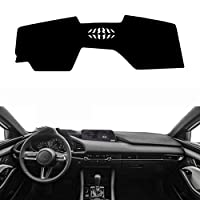 XQRYUB 車のインナーダッシュマットパッドダッシュボードアンチUV、マツダ3に適合Mazda3 2019 2020
