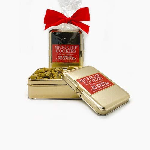 World's Tiniest, Most Irresistible Chocolate Chip Cookies   Be The Party Favorite - Give The Gift Of Gourmet Microchips   3.5oz Fresh Mini Cookies In Premium Tin   Small Batch Handmade In Texas
