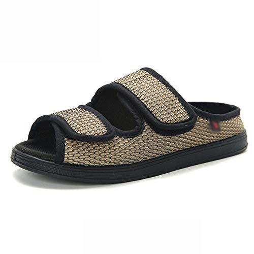 AELEGASN Hombre Sandalias Diabéticas Mujer Zapatos Antibacteriano Sanitized Ajustable Edema Zapatos Hinchados Extra Ancha Zapatillas Antideslizante Adulto-Unisex 35-42,42