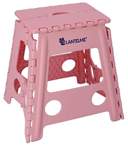 Lantelme Klapphocker Kunststoff Farbe rosa Sitzhocker Zimmer Bad Küchen Hocker faltbar platzsparend Klappsitz 7675