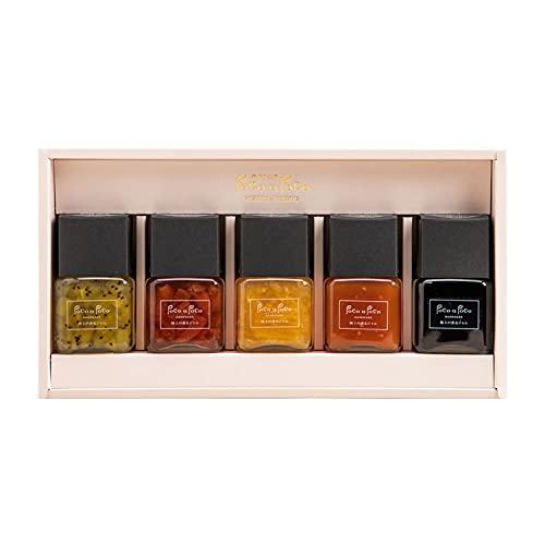 極上の香るジャム5個セット 『夏 バージョン』 ジャム ギフト 手作りジャム いちご(紅ほっぺ) ブルーベリー キウイ トマト ニューサマーオレンジのマーマレード マニキュア 低糖度