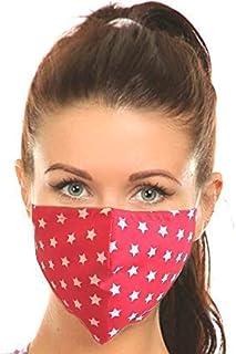 Set di 3 Maschera a 3 strati, Strisce di Alluminio per Naso Integrato, Unisex Adulto, 100% Cotone, Lavabili e Riutilizzabi...