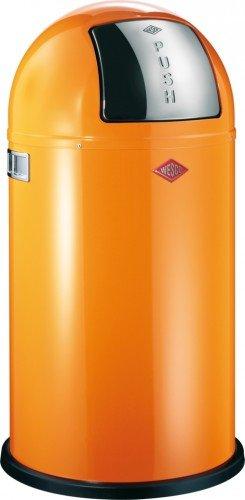 Wesco PUSHBOY 50L Design Mülleimer Orange