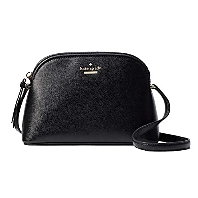 Kate Spade Peggy Patterson Drive Leather Crossbody Bag (Black), Small