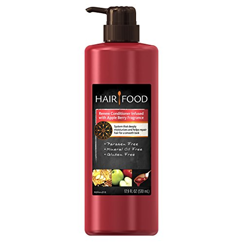 Hair Food Renew Conditioner with Apple Berry Fragrance, 17.9 Fluid Ounce