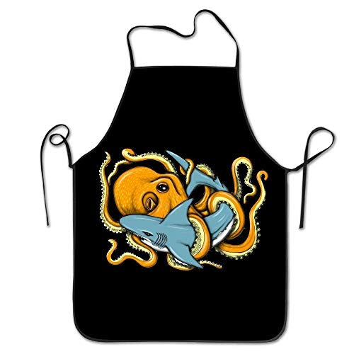 Pillow Hats Taie d'oreiller Chapeaux Art Funny Octopus Shark Unisexe Cuisson Tabliers de Cuisine Chef Tablier Bavoir