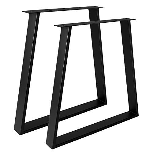 Design Tischgestell Stahl schwarz TUG 805 Trapez Tischuntergestell Tischkufe (550 - 700mm Breite)