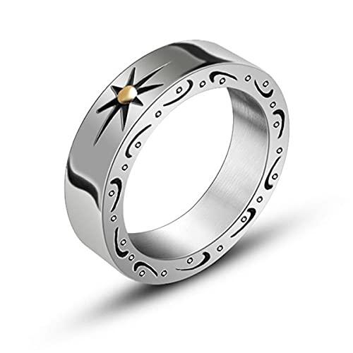 Nihlsen Anillo de acero de titanio temperamento masculino simple índice de moda anillo de dedo pulido tratamiento anillo Meticulous Workmanship
