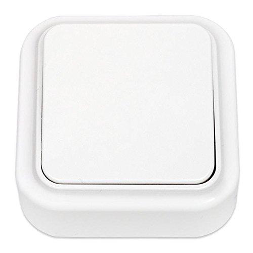 Aufputz Lichtschalter, IP20 farbe weiß, serie OKKO