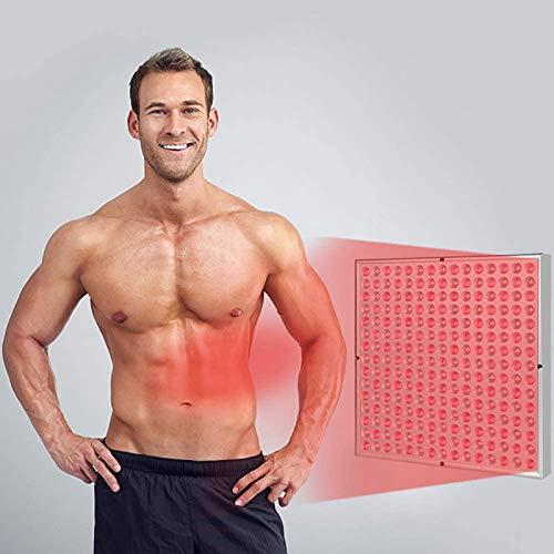 NXX Infrarotlampe Rotlicht-Therapielampe Zur Licht Von Hautschmerzen,Gesicht Körper Infrarot-Physiotherapielampe,Rot 660Nm Nahinfrarot 850Nm Lampe 225Leds Lichttherapie-Lampe