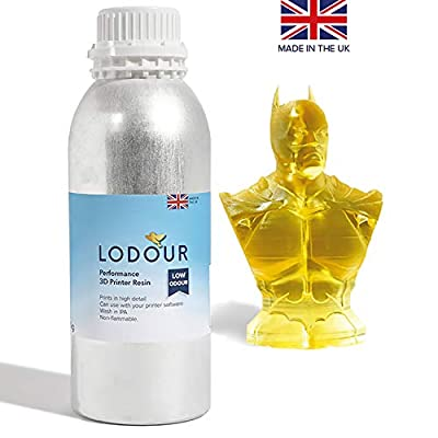 NEW Ultra Low Odour 3D Printer Resin, UV-Curing General 405nm Photopolymer Resin, Accurate Fluidity and Low Shrinkage for LCD 3D Printing - 1kg