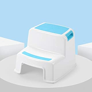 2 Step Stool for Kids(1 Pack, Blue) - Toddler Step Stools for Toilet Potty Training, Bathroom and Kitchen - Slip Resistant...