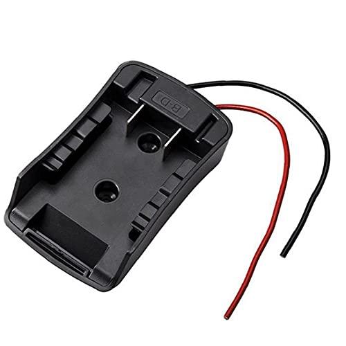 NIDONE Adaptador de Ruedas de alimentación 14.4V-18V Conector de batería de Iones de Litio con Cables compatibles con Pisco Negro