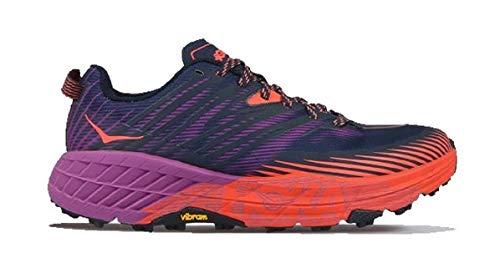 Hoka One One Speedgoat 4 Wide Textile Zapatillas sintéticas, rojo (Espacio exterior/Coral caliente), 38.5 EU
