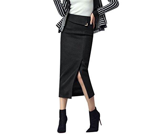 BSQZ JIN PING® Wollen jurk, winter dik pakket heuprok Slanke dunne mode step rok