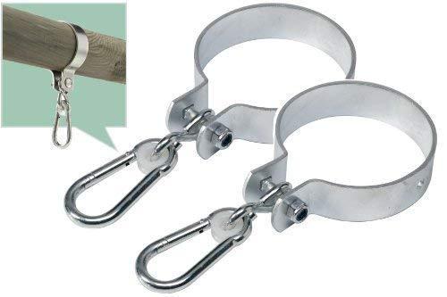 Loggyland 2er-Set Schaukelschelle rund 10cm, Schaukelhaken 100 mm