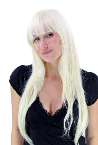 Perruque sexy blond platine, long, lisse YZF-4028-613