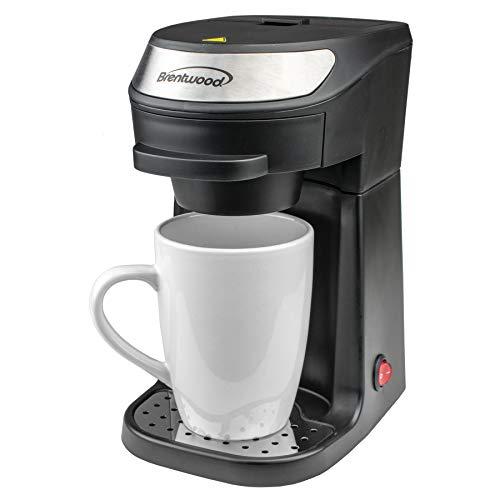 Brentwood TS-111BK Single Serve Coffee Maker with Mug, Black