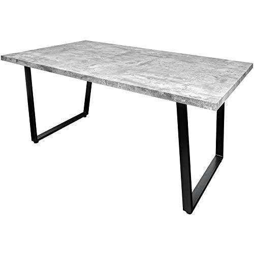 Riess Ambiente Design Esstisch LOFT 160cm Beton-Optik mit Kufengestell Industrial Style Tisch Holztisch Konferenztisch