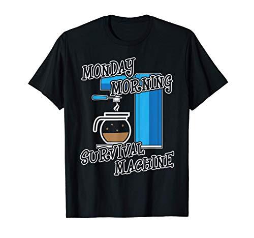 Kaffee Montag Dienstag Kaffeeliebhaber Barista Geschenk T-Shirt