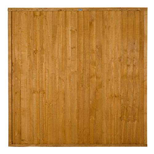 Forest Garden Forest 1.83 m Close Board Panel, Dip Treated, 6 ft (Pack of 3)