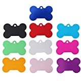 Ueetek 10PCS Pet ID TAGS osso a forma di cane incisione nome indirizzo tag