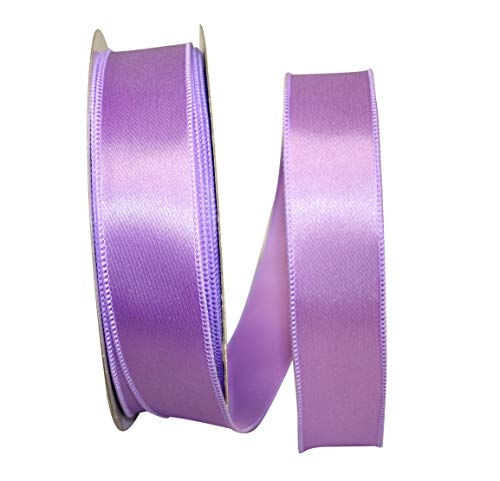 Reliant Ribbon Satin Value Wired Edge Ribbon, 1-1/2 Inch X 50 Yards, Lavender