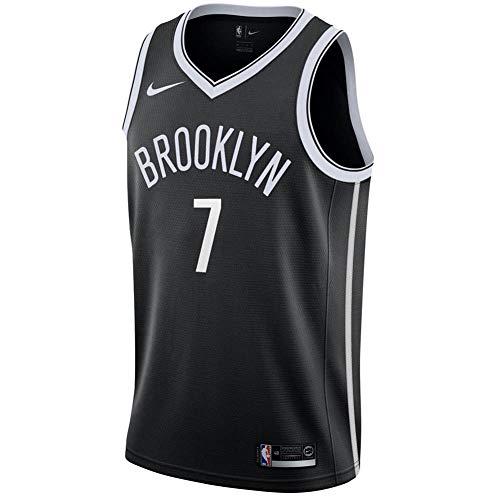Nike BKN Mens NBA Swingman Road Jersey 864459-018 Size M Black