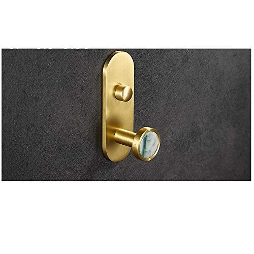 Espacio de aluminio de color oro cáscara de gancho de gancho de pared de la pared de la pared de la pared creativa creativa del gancho de la pared 2pcs-C6 simple y elegante combina con el estilo