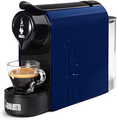 Bialetti Gioia, cafetera expreso para cápsulas de aluminio, sistema Bialetti Il Caffè d'Italia, supercompacta, azul noche
