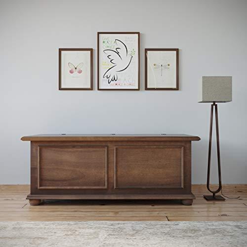Homemania - Baúl, aglomerado apilado, álamo, Madera de Haya, MDF, 120 x 42 x 50 cm
